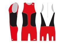 oSuit men's Red / Black / White
