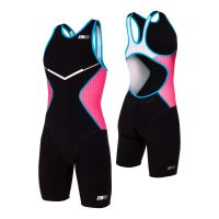 Racer TRISUIT WOMAN Black/Pink/Atoll